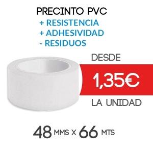 Rollos de Precinto o Cinta Adhesiva PVC Marrón 66 metros x 48 mm de ancho