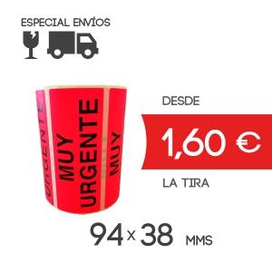 Etiqueta adhesiva muy urgente 94x38mm