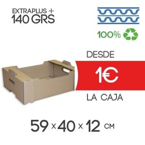 Caja de Cartón para Fruta en Canal Doble 59x40x12 cm