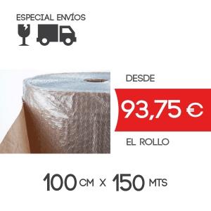Rollo Papel con Plástico Burbuja 100cm x 150mts