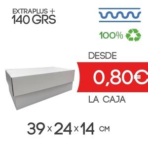Caja de Cartón Automontable con tapa y fondo 39 x 24 x 14 cm Exterior