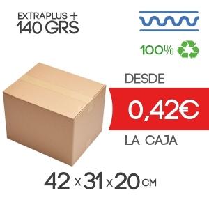 42x31x20 cm Exterior Caja de Cartón de Canal Sencillo Modelo B-1