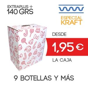 Cajas de Cartón para Lotes de Navidad 40 x 20 x 38,5 cm Exterior para 9 botellas y más accesorios