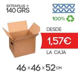 Cajas de Cartón de 46x46x52 cm en Canal Doble con Asa