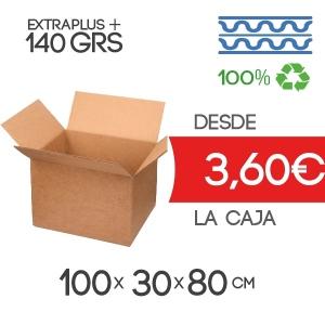 100x30x80 cm Caja De Cartón de Canal Doble Marrón