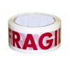 Rollos de Precinto o Cinta Adhesiva Muy Frágil Blanco y Rojo 66 metros x 50mm de ancho