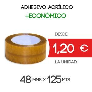 Rollos de Precinto o Cinta Adhesiva Acrílico Transparente 125 metros x 66 mm de ancho