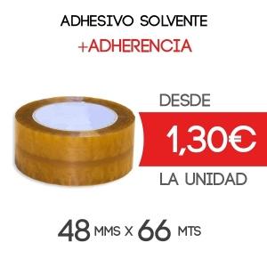 Rollos de Precinto o Cinta Adhesiva Solvente 66 metros x 48 mm de ancho