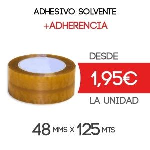 Rollos de Precinto o Cinta Adhesiva Solvente 125 metros x 48 mm de ancho