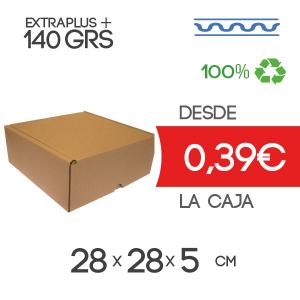 Caja Automontable con tapa incorporada microcanal 28 x 28 x 5 cm