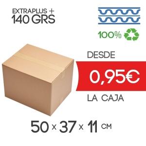 Cajas de Cartón de 50x37x11 cm en Canal Doble Marrón