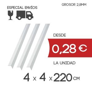 Cantoneras Ala 38mm Grosor 2.8 mm y Largo de 220cm