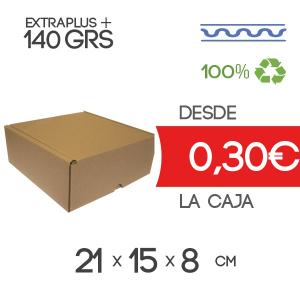 Caja de cartón automontable marrón 20x15x8cm Exterior