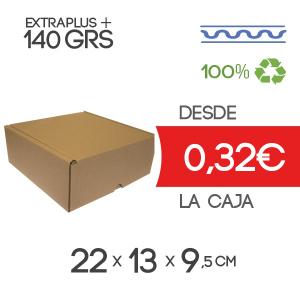 22 x 13 x 9,5 cm Exterior Caja de Cartón Automontable con tapa incorporada